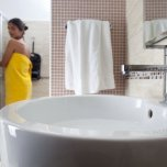 Bathroom room Rubino Hotel Elios Igea